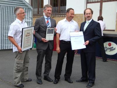v.l.n.r.: Peter Ott, Peter J. Ott, Thomas Imhof, Dieter Eser
